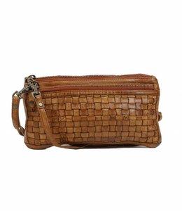 Bear Design Clutch / Geldbörse Tasche CL13997 Cognac