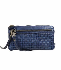 Bear Design Clutch / Geldbörse Tasche CL13997 Blau