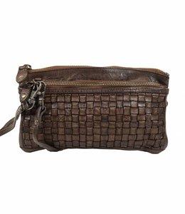 Bear Design Clutch / Geldbörse Tasche CL13997  Braun