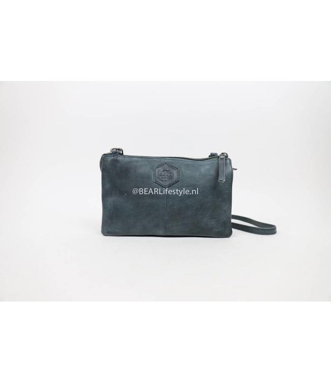 Bear Design Portemonnaie Tasche XL Uma CP30996 Jeansblau