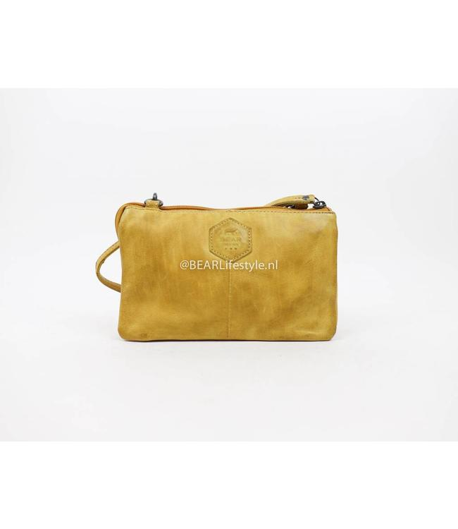 Bear Design Portemonnaie Tasche XL Uma CP30996 Gelb