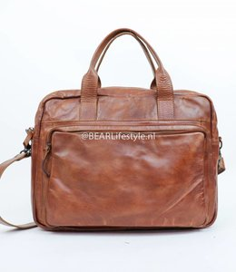 Bear Design Werk-/Laptoptas 'Paolo' - Cognac CL32815