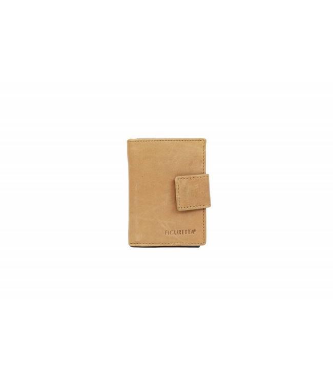 Bear Design Figuretta Anti-Skim Geldbörse Cognac