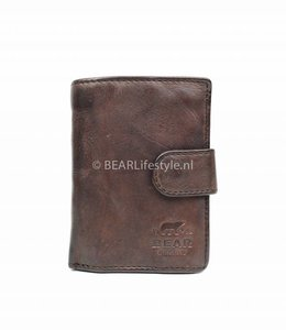 Bear Design - Figuretta Antiskim wallet bruin - RFID
