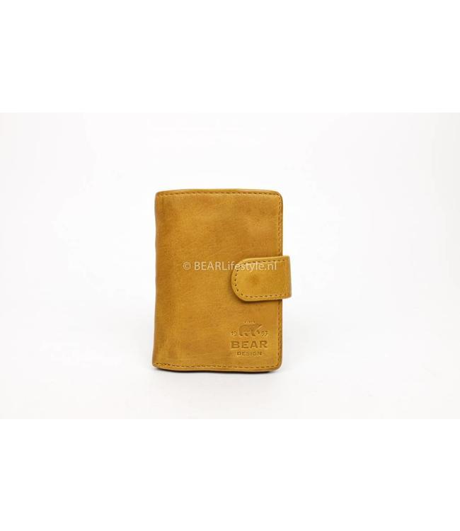 Bear Design - Figuretta Portemonnaie Gelb - RFID Antiskim