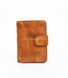 Bear Design - Figuretta Antiskim wallet cognac - RFID