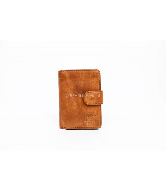Bear Design - Figuretta Antiskim wallet cognac - RFID