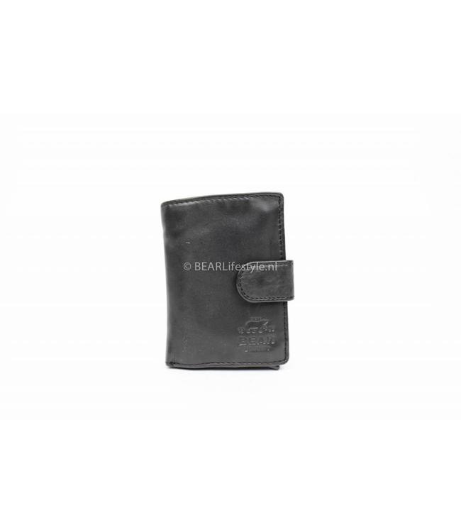 Bear Design - Figuretta Portemonnaie Schwarz - RFID Antiskim