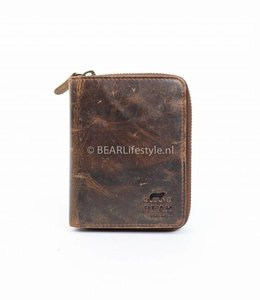 Bear Design Ruime Ritsportemonnee - VG13546 Bruin