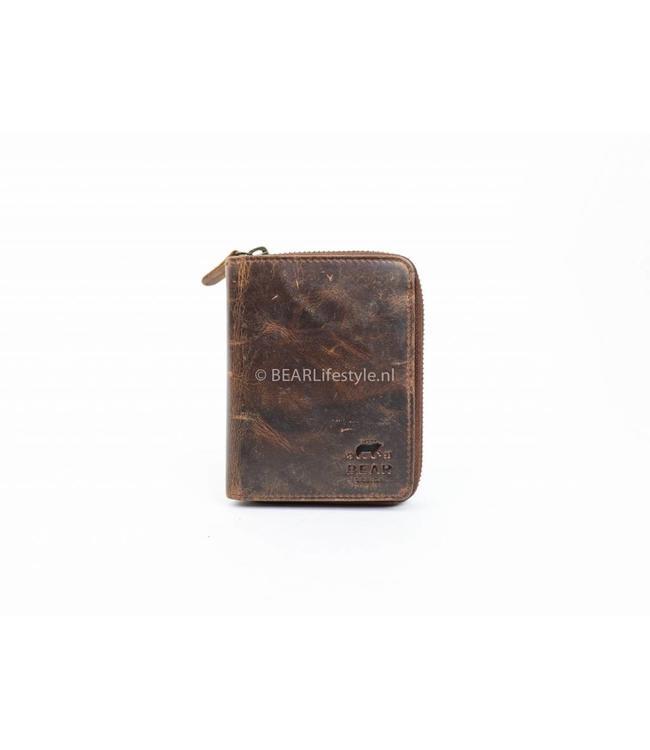 Bear Design Geldbörse mit Reißverschluss VG13546 Braun