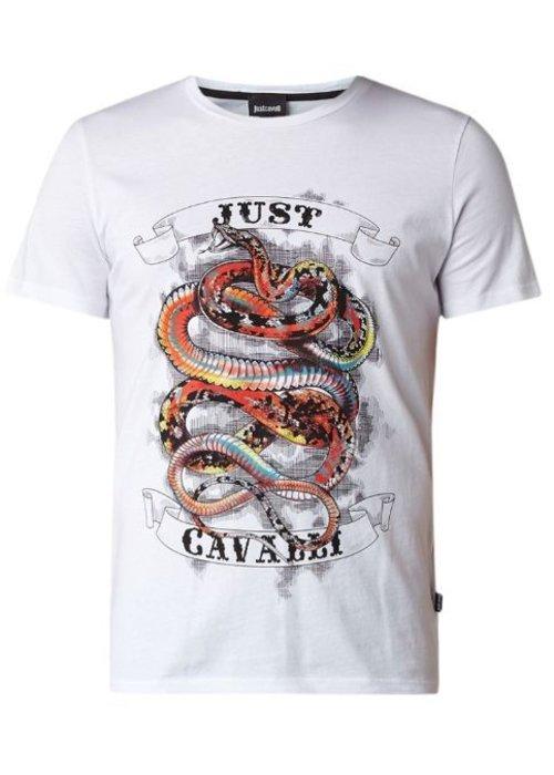 T-shirt met logoprint en slang