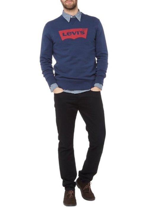 Sweater van katoen met logoprint