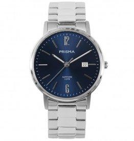 Prisma Prisma - Horloge - Slimline Steel Mr. Blauw