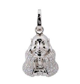 van Leeuwen Zilveren hanger - Zirkonia - Boedha