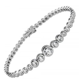 Diamonfire Diamonfire - Zilveren tennisarmband - Zirkonia - Alliance