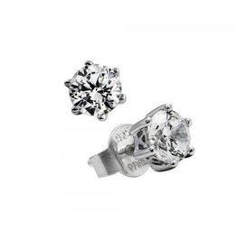 Diamonfire Diamonfire - Zilveren oorknoppen - Solitair - 0.50 ct - Zirkonia