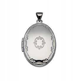 van Leeuwen Zilveren medaillon - Bewerkt