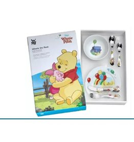WMF Geboortecadeau - Stalen bestekset - kleur - 6 delig - Winnie the Pooh