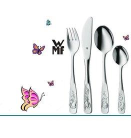 WMF Geboortecadeau - Stalen bestek - 4 delig - Vlinder