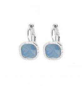 Biba Biba- Oorbellen - Blauw - Opaal