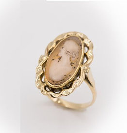 Occasions by Marleen Occasions by Marleen - Gouden ring - Camee - Maat 17.5