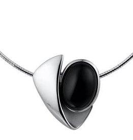 Kasius Zilveren collier - Onyx - 45-45 cm