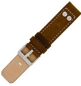 OOZOO TIMEPIECES Oozoo horloge band - Leer - Bruin - Studs