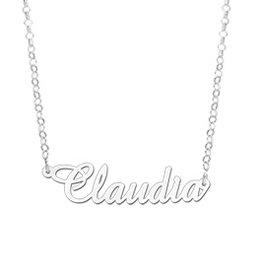 Naamcollier Zilveren naamketting model Claudia