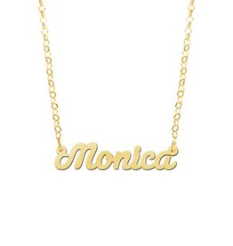 Naamcollier Gouden naamketting model Monica