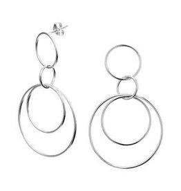 Kasius Zilveren oorhangers - Ringen