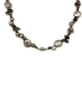 Parel collier - Zoetwaterparel en coins