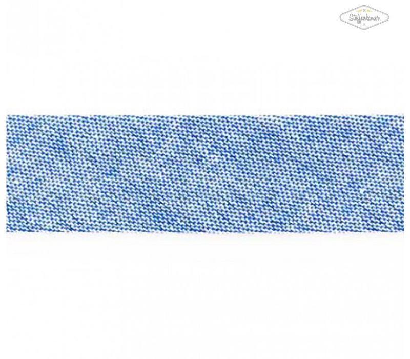 Biaisband blauw gespikkeld
