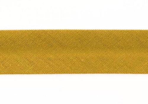 De Stoffenkamer Biaisband mosterdgroen
