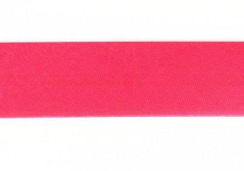 De Stoffenkamer Biaisband fluo roze