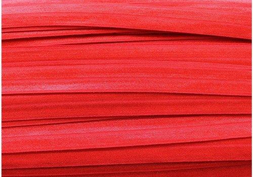 De Stoffenkamer Rekbare biaisband Echt rood