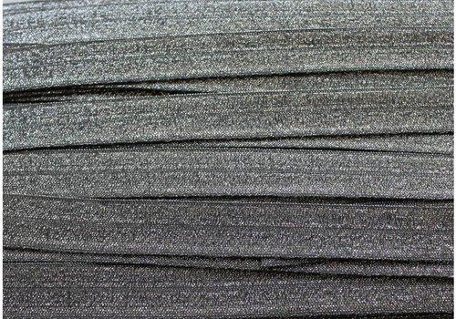 De Stoffenkamer Rekbare biaisband metallic zilver