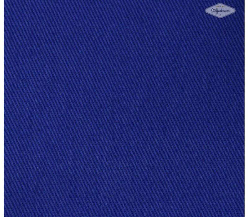 Canvas gabardine koningsblauw