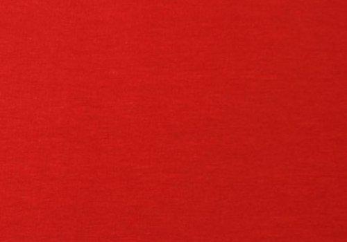 De Stoffenkamer Effen tricot Echt rood