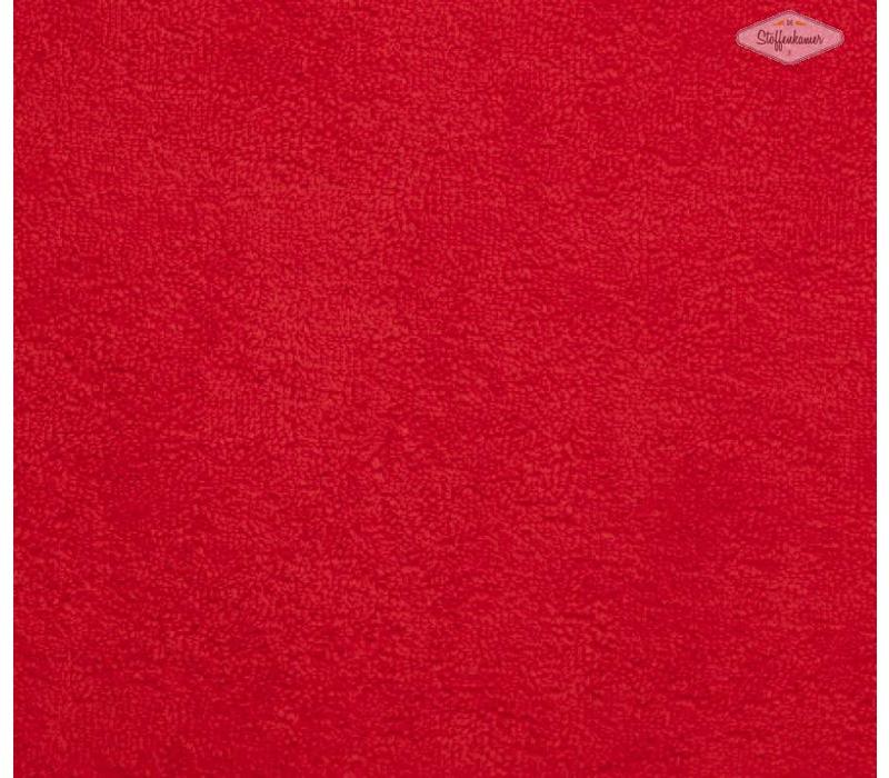 Rekbare badstof rood