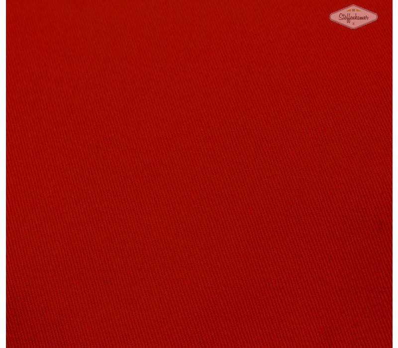 Gabardine canvas rood