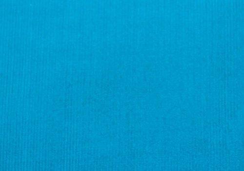 De Stoffenkamer Ribfluweel fijne ribbel turquoise