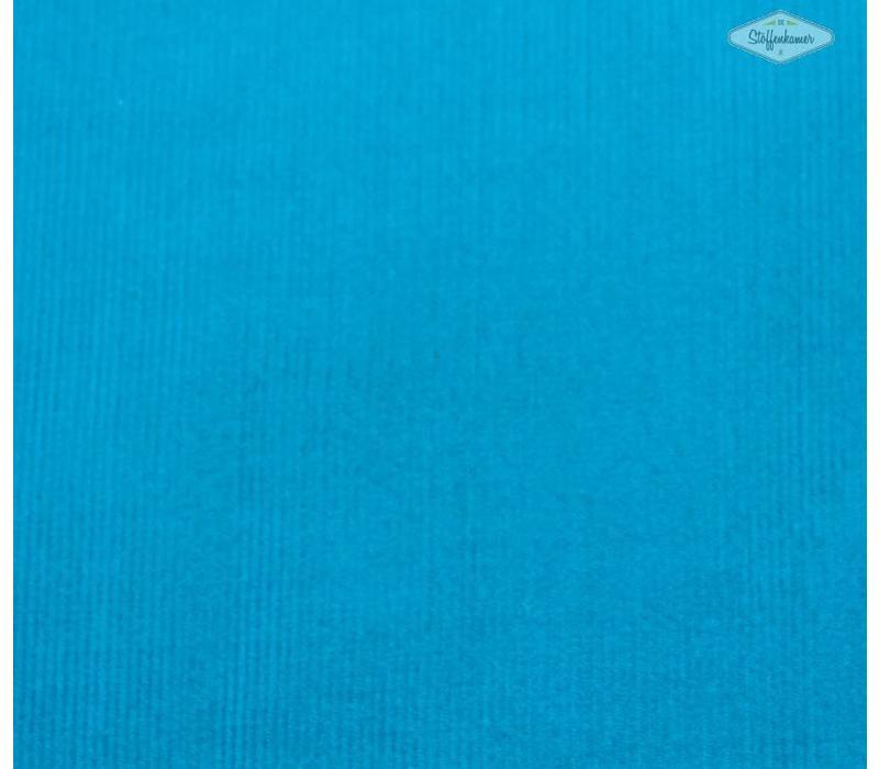 Ribfluweel fijne ribbel turquoise