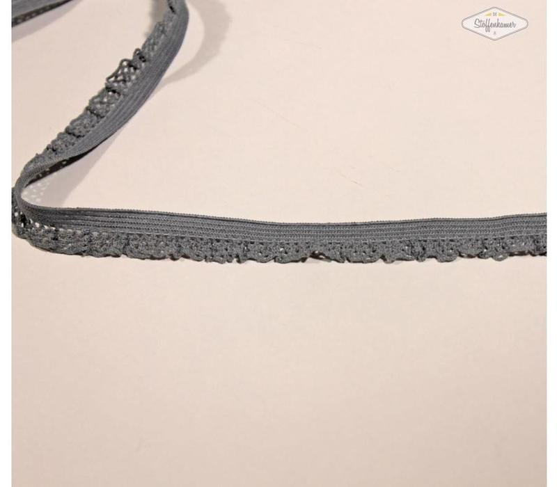 Sierelastiek 12mm Grijs