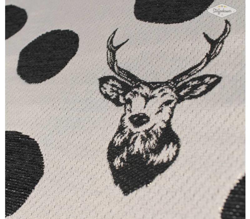 Echino Stag Black and White Metallic