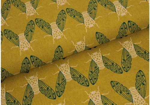 Cotton + Steel Raindrops Rashida Coleman Canvas Mustard