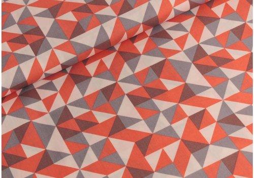 Robert Kaufman Fragmental Triangles Salmon