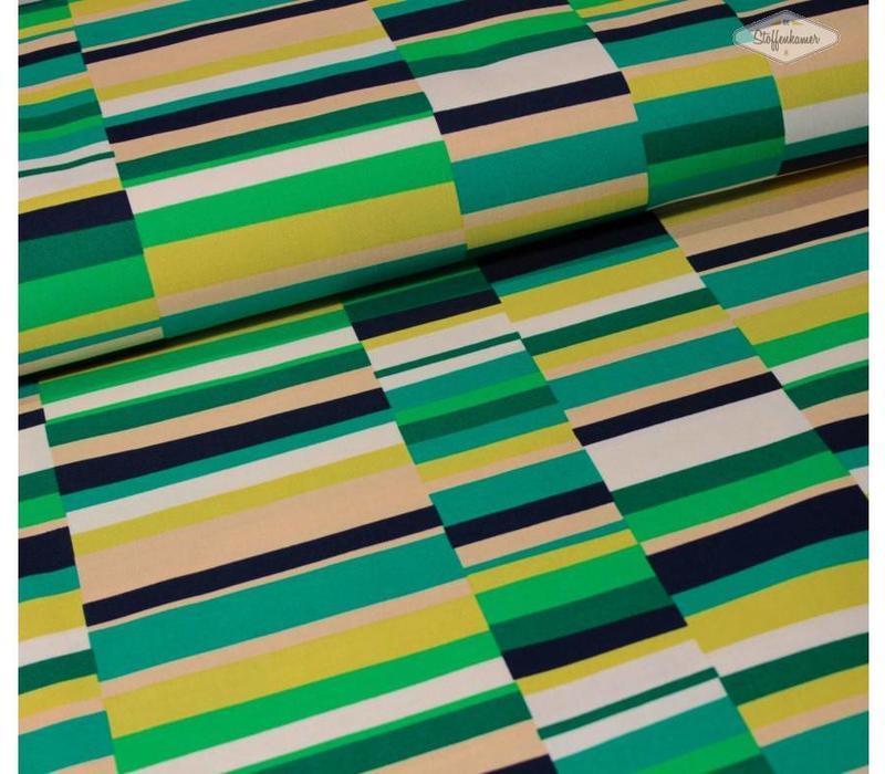 Canvas Geo Pop Green