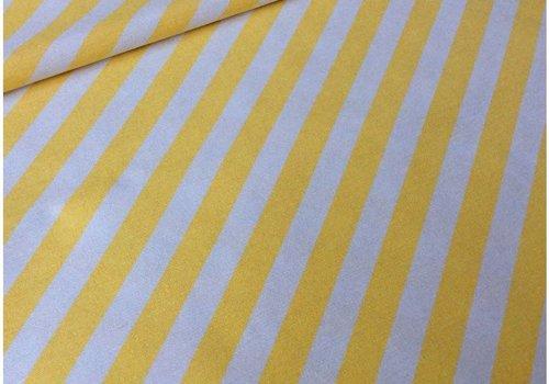 De Stoffenkamer Stevige katoen strepen geel