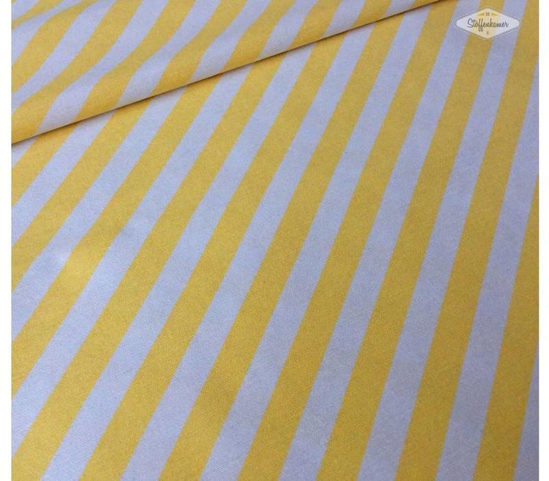 Stevige katoen strepen geel