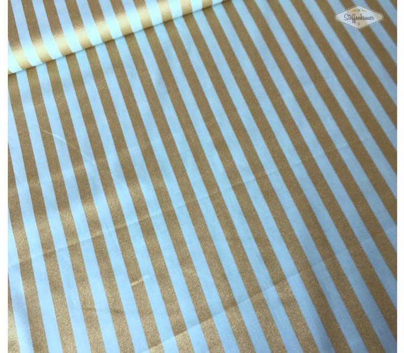 Katoen mint gold lines metallic